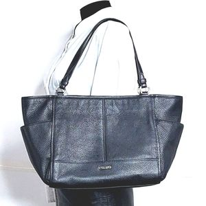Coach Park Leather Carryall Large Tote in Black